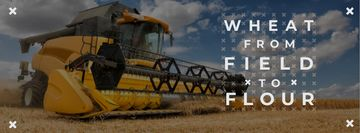 Wheat from field to flour with combine-harvester