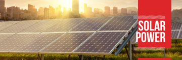 Energy Supply with Solar Panels in Rows