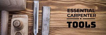 essential carpenter tools poster