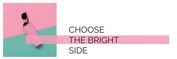 choose the bright side lettering with sunglasses in case