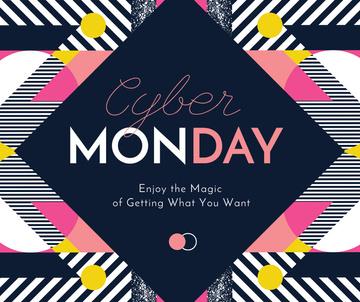 Cyber Monday sale on geometric pattern