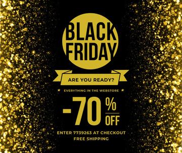 Black Friday Sale on Golden glitter