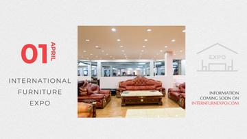 Furniture Expo invitation with modern Interior