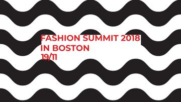 Fashion Summit invitation on Waves in Black and White
