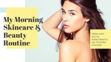 Beauty routine guide with Attractive Woman