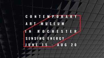 Art Museum invitation on black tiles
