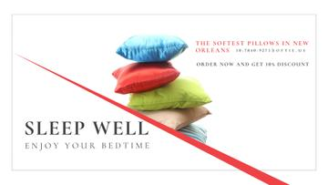 Home Textiles Ad with Colorful Pillows