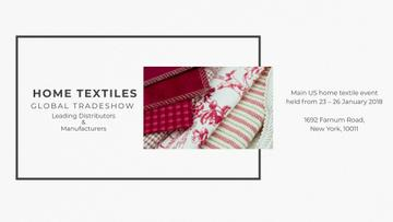 Home Textiles Event Announcement in Red