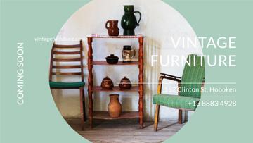 Vintage Furniture Shop Ad Antique Cupboard