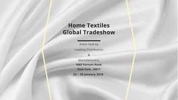 Home Textiles event announcement White Silk