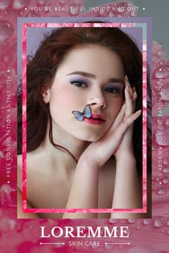 Beauty Salon ad with young Woman