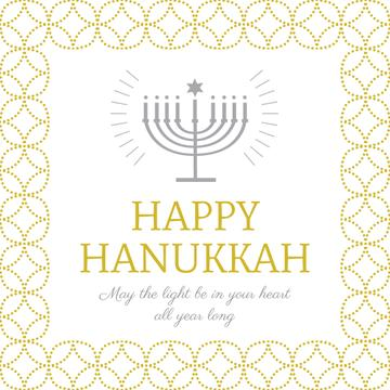 Happy Hanukkah Greeting with Menorah