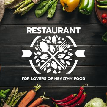 Healthy Food Menu with cooking ingredients