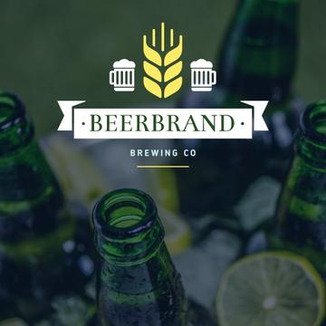 Brewing Company Ad Beer Bottles in Ice