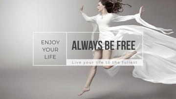 Inspiration Quote with Woman Dancing
