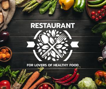 Healthy Food Menu with cooking ingredients