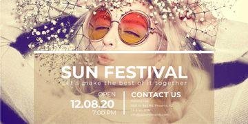 Sun festival advertisement banner
