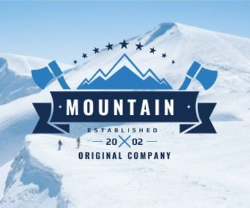 Journey Offer Mountains Icon in Blue