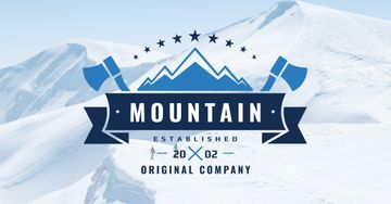 Company logo with Snowy Mountains View