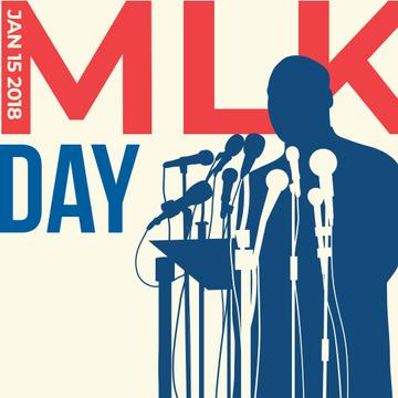 Martin Luther King Day Greeting with silhouette