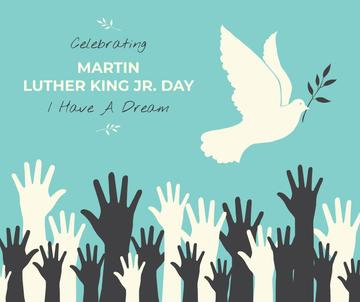 Martin Luther King greeting with dove