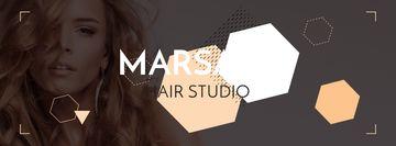 Hair studio Offer with Girl in earrings