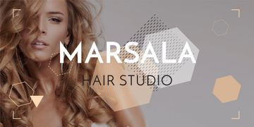 Hair studio Offer with Beautiful Woman