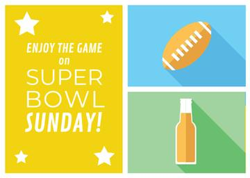 Super bowl Announcement in Yellow