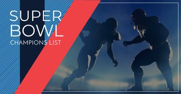 Super bowl champions list banner