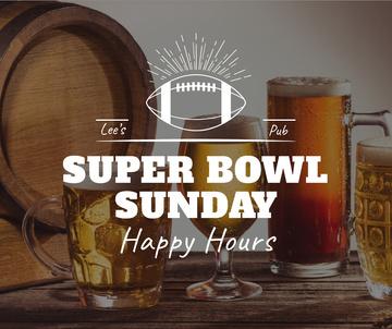 Super Bowl Offer Beer in glasses