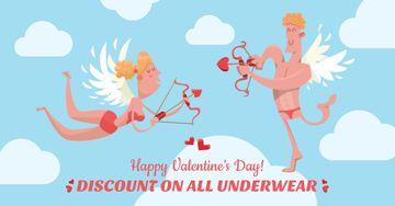 Valentine's Day Underwear Sale Cupids in sky