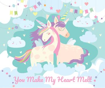 Loving magical Unicorns in Clouds