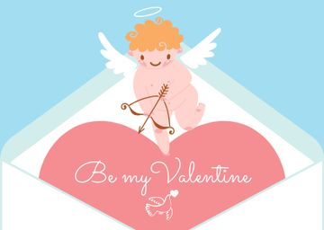 Love Quote with Adorable Cupid