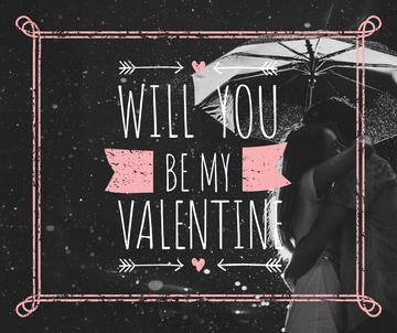 Valentine's Day Couple under umbrella