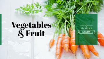 Grocery Store ad with raw Carrots