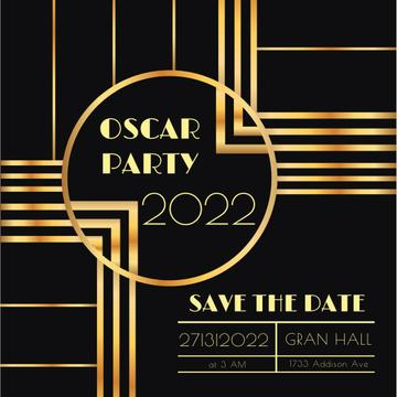 Annual Academy Awards party invitation