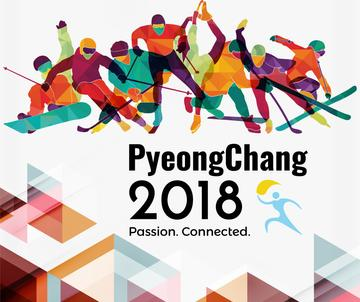 Winter Olympics on PyeongChang poster