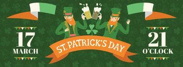 St. Patrick's Day Greeting Men clinking glasses of Beer