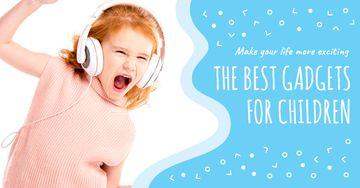Emotional kid listening to music