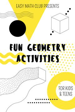 Math Club Invitation with Simple Geometry Figures in Yellow