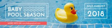 Rubber duck in swimming pool