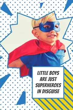 Kid in superhero costume