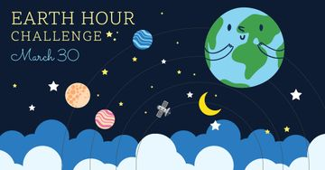 Earth hour with Cute Planets