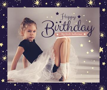 Girl in ballerina skirt on her Birthday