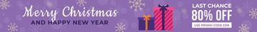 Christmas Sale Gift Boxes in Purple