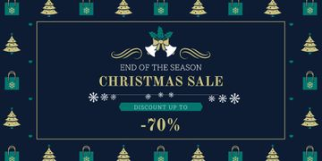 Christmas Sale Announcement with Trees and Gifts