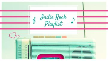 Music Playlist Ad Retro Radio in Mint Color