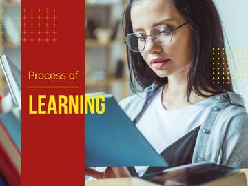 Process of Learning with Girl Reading Book