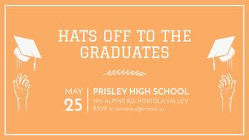 Graduates Day invitation in orange