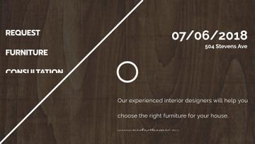 Furniture Company ad on Dark wooden surface